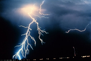 Image result for Thunder is actually the sound caused by lightning.